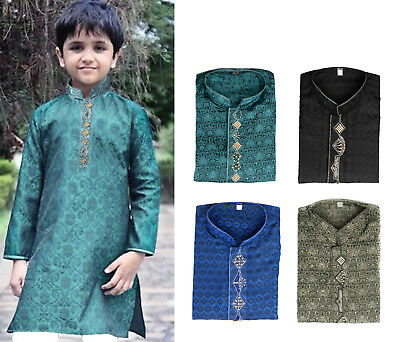Pakistani Indian Kid Boy Kurta Kameez for Eid Party Wedding Mehndi Age 5 to 16
