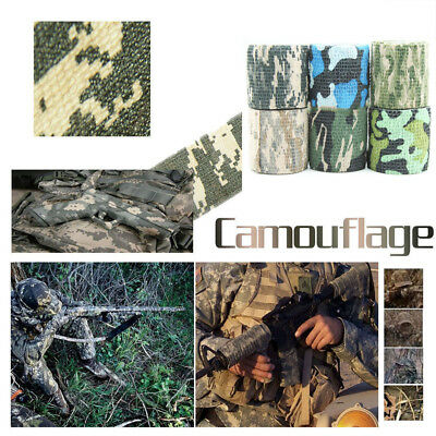 1pc Hunting Army Camo Outdoor Camouflage Stealth 5cm x 4.5m Tape Durable Wrap