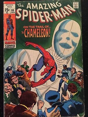 The Amazing Spiderman 80. Marvel Comics, 1969 featuring the Chameleon