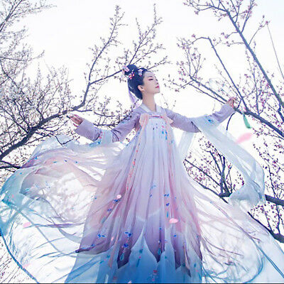 Hanfu Clothes Costume Fairy Skirt Dress Tradition Tang Outfit Cosplay Dress C18