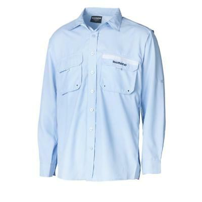 Shimano Vented Long Sleeve  Shirt - Skyway Blue - BRAND NEW with tags