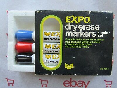 Ultra Rare! #830 Vintage Expo Dry Erase/white Board Markers / Potent Ketone Ink!