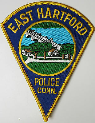 East Hartford CONNECTICUT Police Department Embroidered Uniform Patch NEVER SEWN