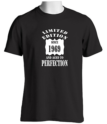 Limited Edition Since 1969 Aged To Perfection Birthday T Shirt Or Christmas Gift