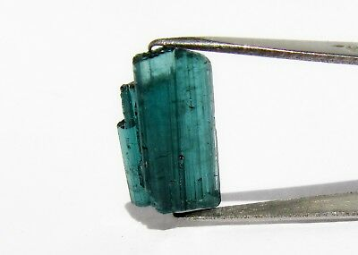 Teal Blue Green Tourmaline Rough 9.77 Cts Indicolite Multi Terminated Stone 176H