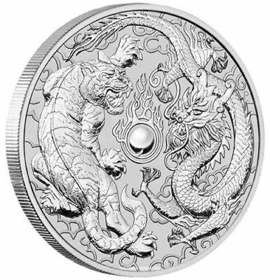 2018 Dragon and Tiger Coin 1 oz. 999 Silver ...RARE SOLD OUT  IN HOURS