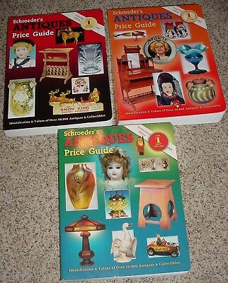 Set Of 3 Schroeder's Antique Price Guides 20Th, 21St And 22Nd Editions, Pb 02-04