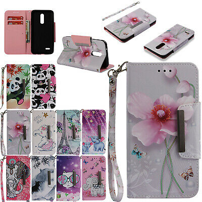 For LG K10 2018/G7 ThinQ/Stylo 4 Magnetic Phone Case Leather Stand Wallet Cover