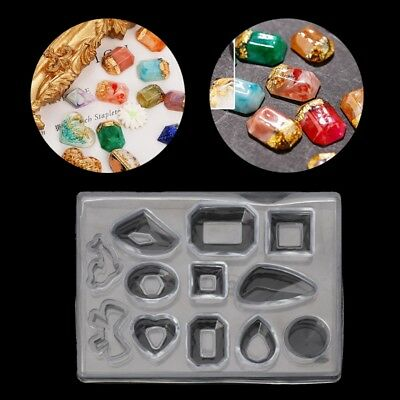 12 types Geometric Jewelry Epoxy Mold Earring Silicone Resin Craft Making Tool