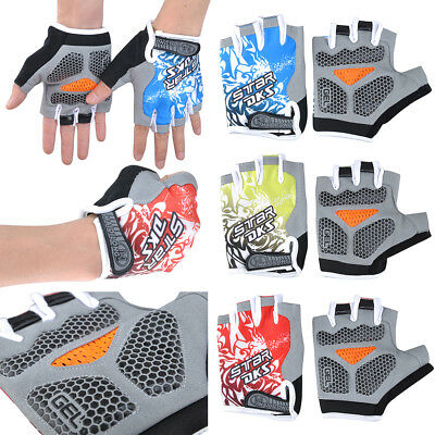 Cycling Gym Fitness Weight Lifting Workout Running Exercise GEL Silicone Gloves