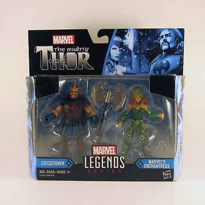 MARVEL Legends Series THOR Executioner And Enchantress 2 Pack never opened HOT