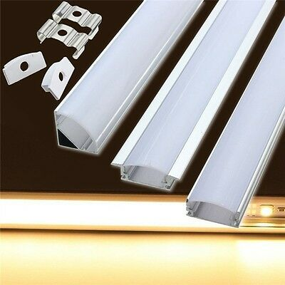 Wholesale 0.5M V-Style LED Aluminum Channel Case&Milk Cover For LED Rigid Strip