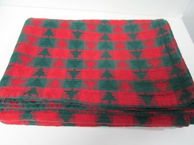 "Dansk Table Cloth Nordic Christmas Trees Red & Green 54"" x 97"" Rectangular"