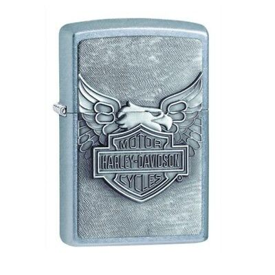 Zippo Lighter HARLEY DAVIDSON 207HD 230 Street Chrome Brass Emblem Windproof USA