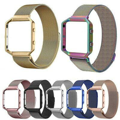 For Fitbit Blaze Tracker Milanese Magnetic Loop Stainless Steel Wrist Band Strap