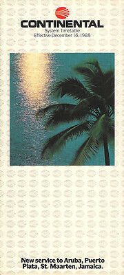 Continental Airlines system timetable 12/16/88 [308CO] Buy 2 Get 1 Free