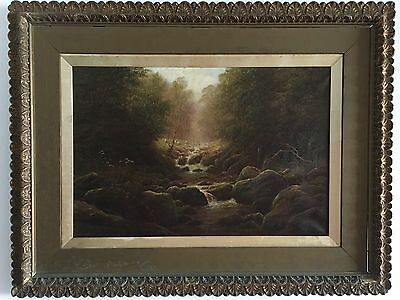 ++ ~1880s WILLIAM MELLOR BRITISH LANDSCAPE PAINTING YORKSHIRE ENGLAND VICTORIAN+