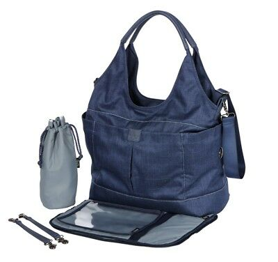 OiOi Slouch Bucket Tote Nappy Bag - Denim Blue