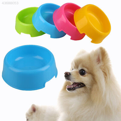 Pet Cat Dog Lovely Plastic Feed Drink Water Dish Food Dishes Bowl Feeder