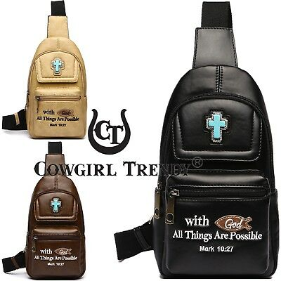 1b9953d338d8 WESTERN EMBROIDERED BIBLE Verse Women Single Shoulder Backpack Sling ...