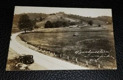 1936 Vintage RPPC Postcard~West Virginia~Northwestern Turnpike~Loar, Grafton