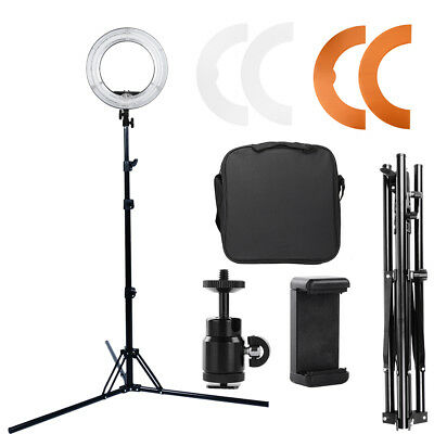 "45W Fluorescent 14""Dimmable Ring Light w/tripod Light Stand&Ball Head Studio Kit"
