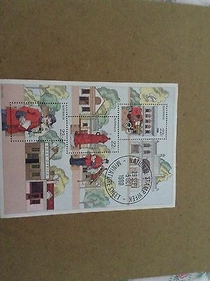 Miniature Sheet Stamp Week 1980 Mint Condition Free Post