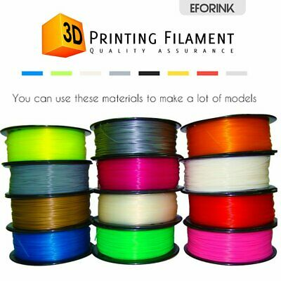 3D Drucker Filament PLA/ABS Printer Rolle 1,75mm 1kg Trommel Patrone Mit Spule