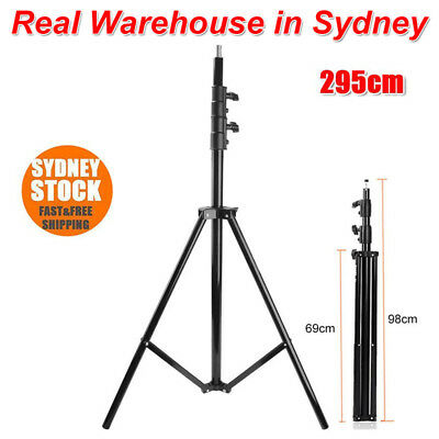 SN-303 Foldable Studio Photography Flash Light Tripod Stand Bracket 98-295cm AU