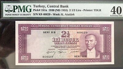 Turkey 2.5 Lira 5th Em 2nd Issue Consecutive Notes