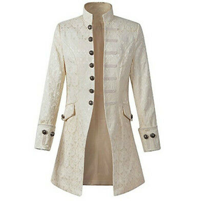 PLUS SIZE Steampunk Coat Jacket Vacation Festival Victorian Morning Coat Male