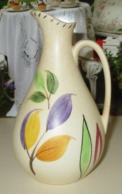 Radford Pottery Art Deco Hand Painted Oil/Vinegar Jug - Rare Pattern
