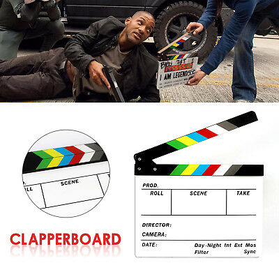Director Video Clapperboard Clapper Board TV Movie Film Slate Colorful Action