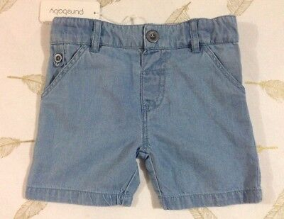 Purebaby Boys Shorts 3-6 Months 00 New