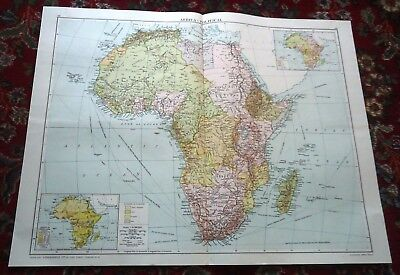 Large VICTORY MAP ~ AFRICA African ~ Alexander Gross & Geographical 1919/1920 #2