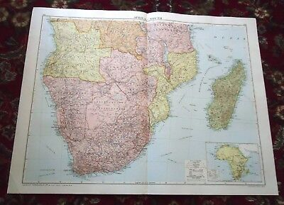 Large VICTORY MAP ~ SOUTH AFRICA ~ Alexander Gross & Geographical 1919/1920