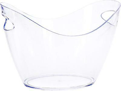 Clear Plastic Summer Garden Party Drinks BBQWine Beer Ice Bucket Champagne Bowl