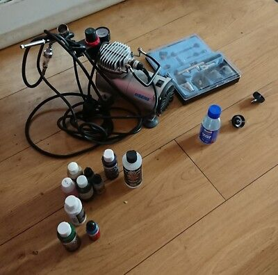Air Compressor And Air Brush Setup For Model Painting