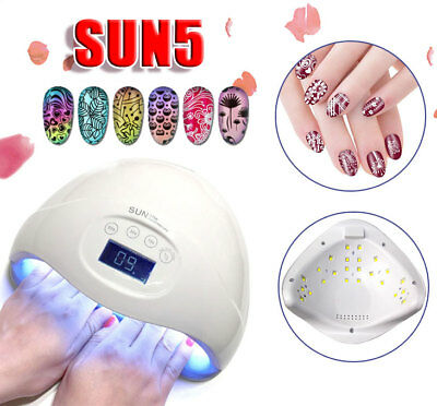 SUN5 Plus 48W LED UV Nail Lamp Light Gel Dryer Manicure Art Curing Timer AU Plug