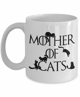 Mother of Cats Mug - Funny Coffee Mug Gift For Cat Mom, Cat Lovers & Owners
