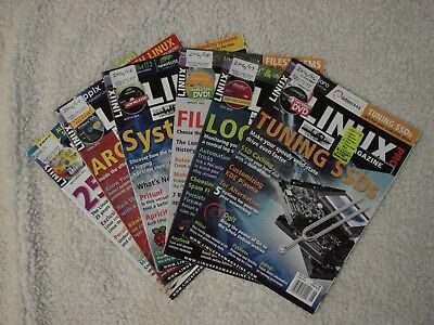 LOT OF LINUX PRO MAGAZINES - All 12 Issues of 2016 - With Discs - Excellent !!!