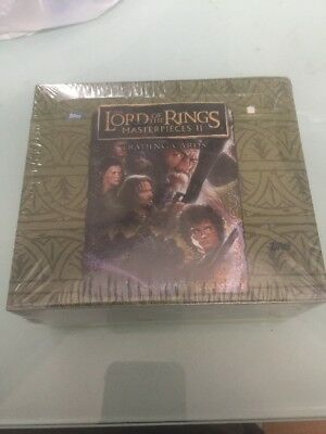 Lord Of The Rings Masterpieces Ii  Hobby Trading Card Box  Sealed  Unopened Rare