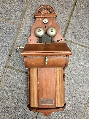 Antique Commonwealth of Australia P.M.G. wall mounted telephone unit