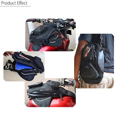 Magnetic Motorcycle bike Travel Saddlebag Oil Fuel Gas Tank Bag with Window New