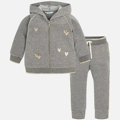Mayoral Girls Tracksuit in Steel with Gold accents (04814) aged 2-8 (New Season)