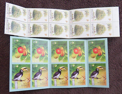 Singapore 2 X Plants Animals Complete Booklet Of Stamps Un/mm