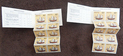 Singapore 2 X Ships Complete Booklet Of Stamps Un/mm