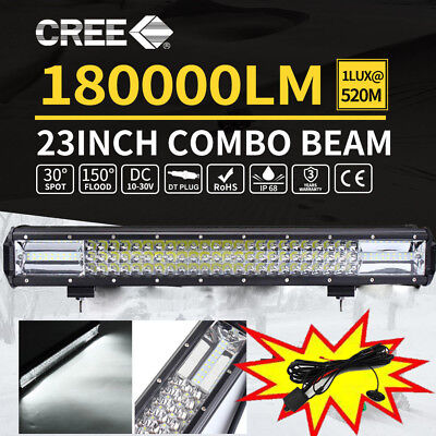 "23inch Cree LED Light Bar Spot Flood Driving Offroad Lamp 22/23"" 4WD 4x4"