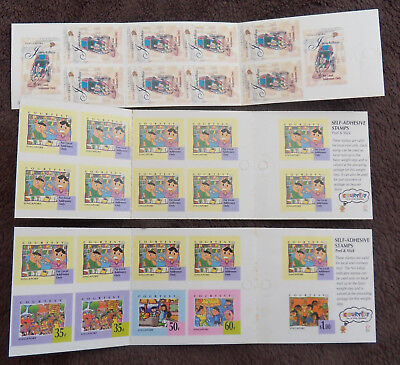 Singapore 3 X Transports Children Complete Booklet Of Stamps Un/mm