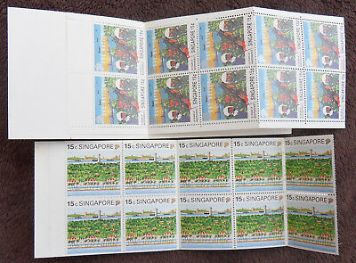 Singapore 2 X Complete Booklet Of Stamps Un/mm
